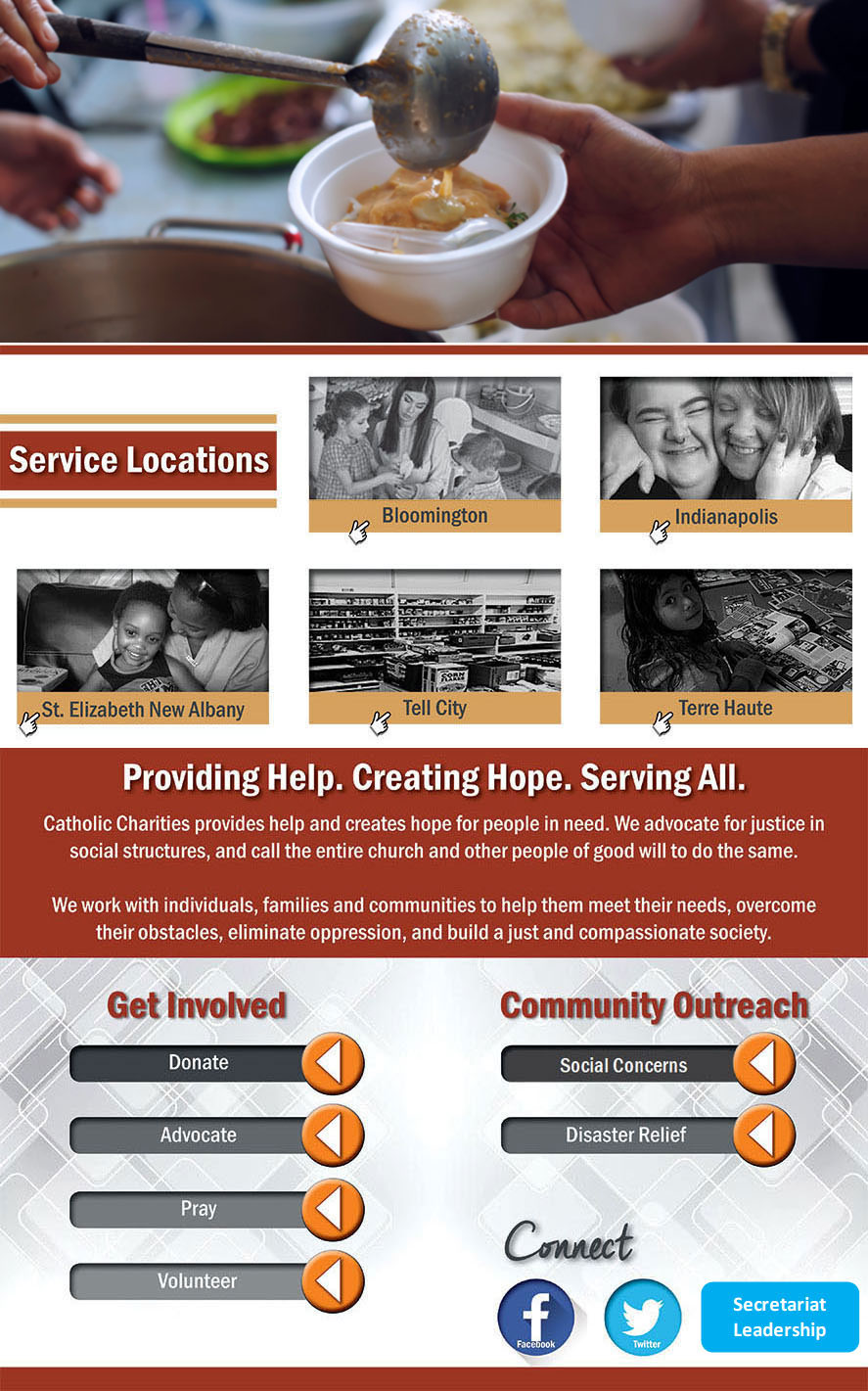 Catholic Charities: Providing Help. Creating Hope. Serving All.