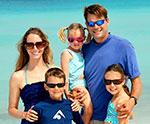 Family at ocean