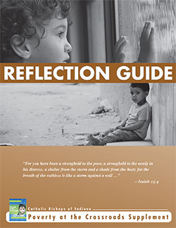 Poverty pastoral reflection guide cover