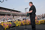 Archbishop Tobin praying at the Indy 500