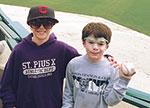 Boys at baseball game