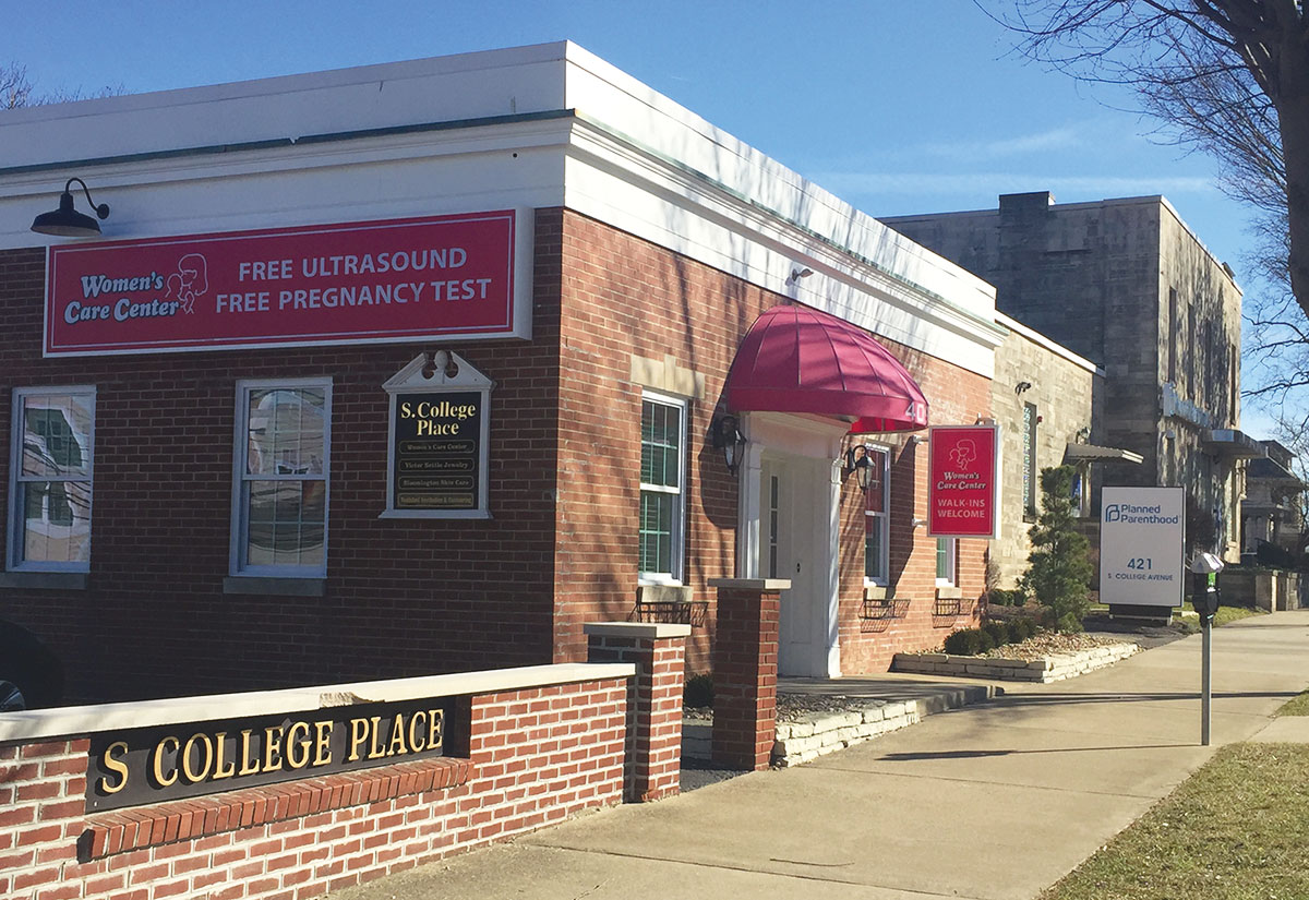 239569cd0f7 A new Women's Care Center opened in Bloomington immediately next to a  Planned Parenthood abortion facility
