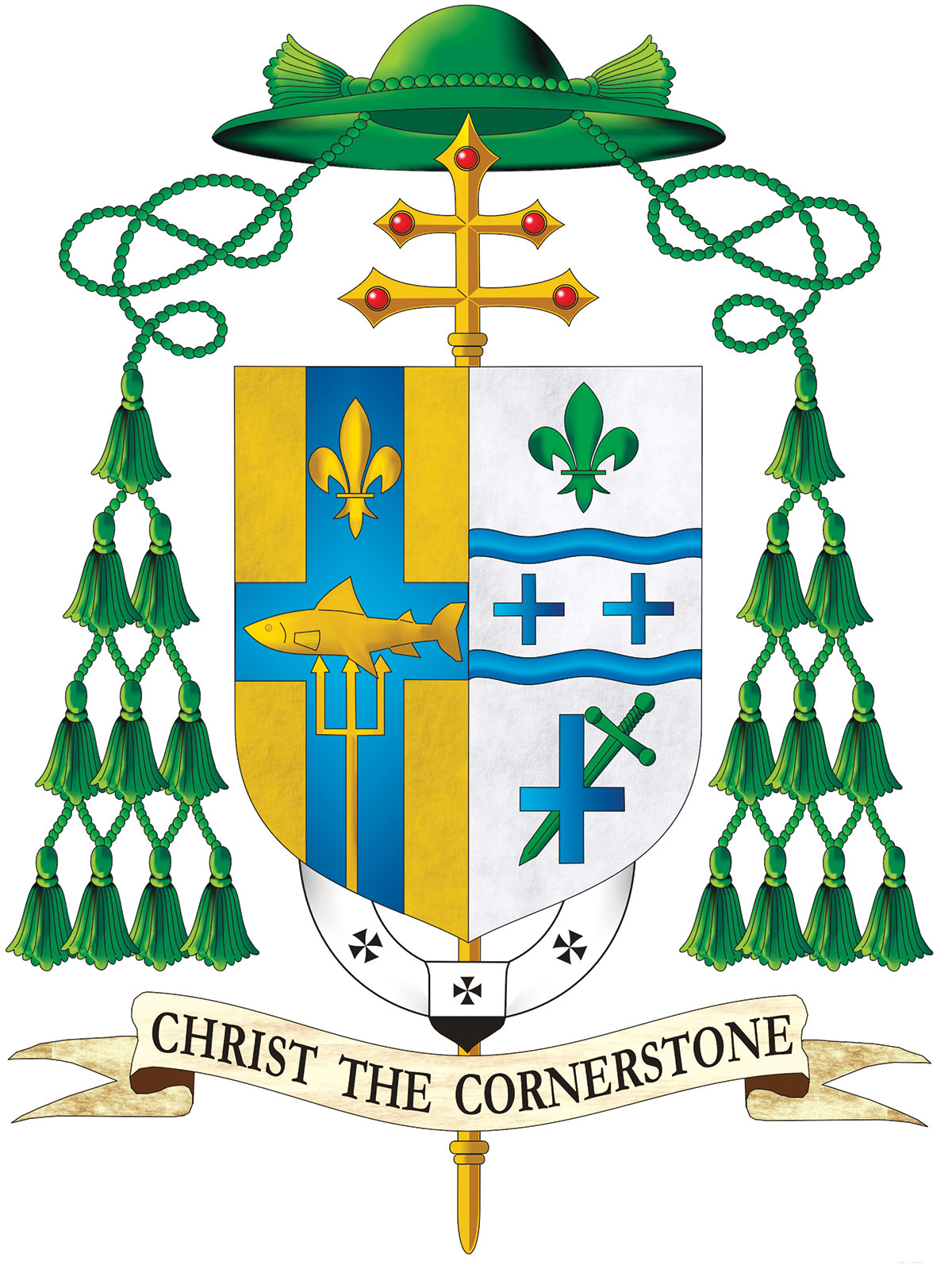 Archbishop Thompsons New Coat Of Arms One Shield Two Stories