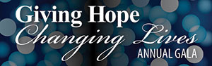 Giving Hope - Changing Lives annual gala logo