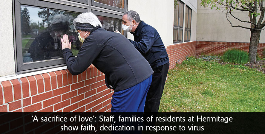 'A sacrifice of love': Staff, families of residents at Hermitage show faith, dedication in response to virus