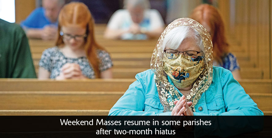 Weekend Masses begin resuming
