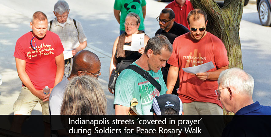 Indianapolis streets 'covered in prayer' during Soldiers for Peace Rosary Walk