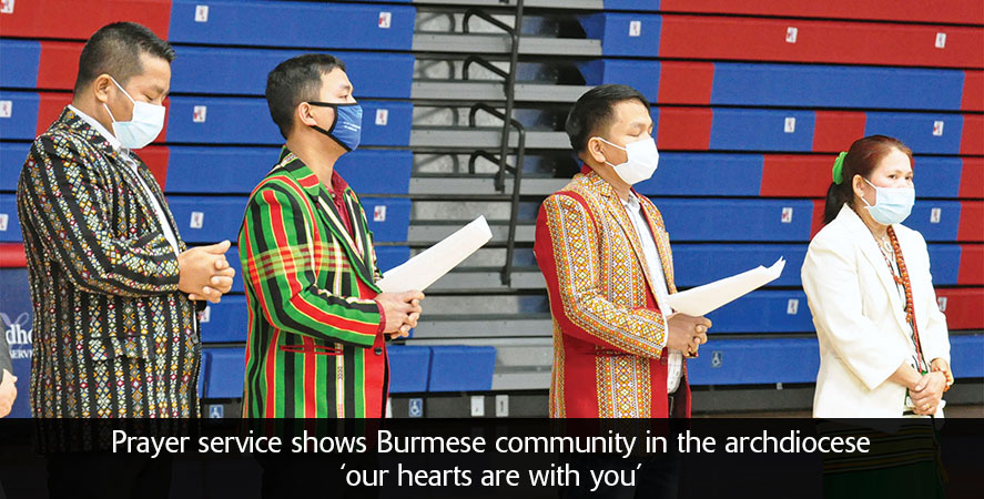 Prayer service shows Burmese community in the archdiocese 'our hearts are with you'