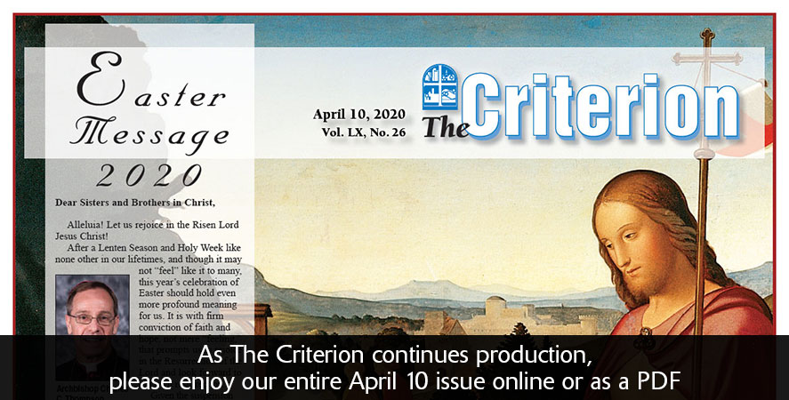 Get the entire April 10 edition of The Criterion here