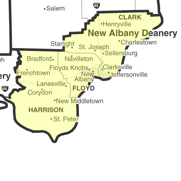 Albany Indiana Map.Parish Listings